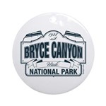 Bryce Canyon Blue Sign Ornament (Round)