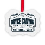 Bryce Canyon Blue Sign Picture Ornament