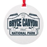 Bryce Canyon Blue Sign Round Ornament