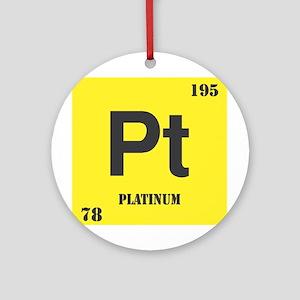 Platinum Element Ornament (Round)