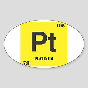 Platinum Element Oval Sticker