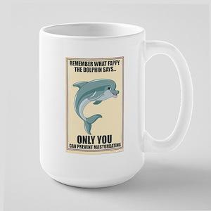 Fappy the Anti-Masturbation Dolphin Mug