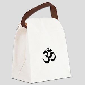 Black Om Canvas Lunch Bag