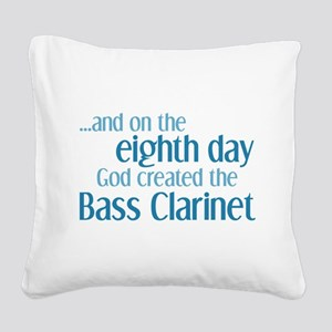 Bass Clarinet Creation Square Canvas Pillow