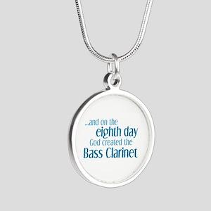 Bass Clarinet Creation Silver Round Necklace