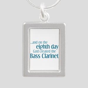 Bass Clarinet Creation Silver Portrait Necklace
