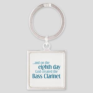 Bass Clarinet Creation Square Keychain