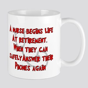 Retired Nurse RED Answer Phones Mugs