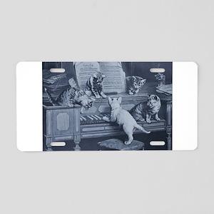 Kitty Tunes Aluminum License Plate