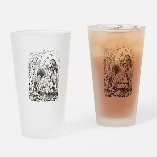 Alice in Wonderland Cards Drinking Glass