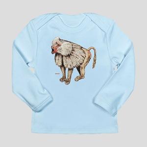 068c5bab6854 Baboon Ape Monkey Long Sleeve Infant T-Shirt
