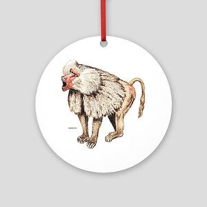 Baboon Ape Monkey Ornament (Round)