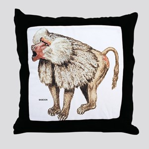 Baboon Ape Monkey Throw Pillow