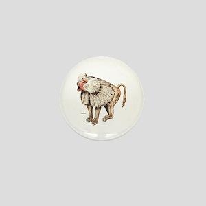 Baboon Ape Monkey Mini Button