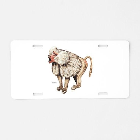 Baboon Ape Monkey Aluminum License Plate