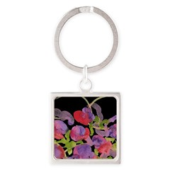 Atom Flowers #36 Square Keychain