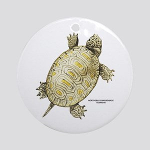 Northern Diamondback Turtle Ornament (Round)