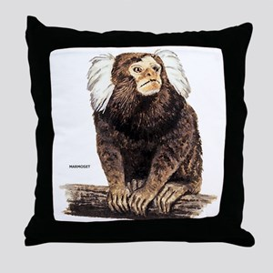 Marmoset Monkey Throw Pillow