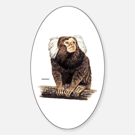 Marmoset Monkey Sticker (Oval)