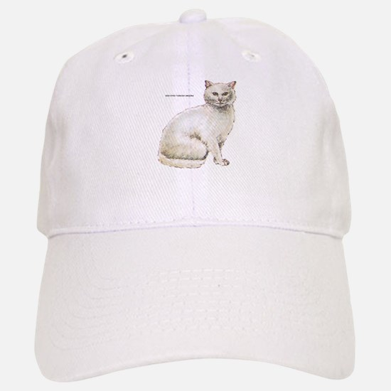 Odd-Eyed Turkish Angora Cat Baseball Baseball Cap