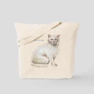 Odd-Eyed Turkish Angora Cat Tote Bag