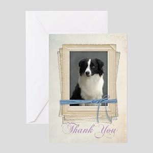 Border Collie Thank You Card