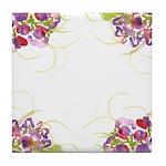 Atom Flowers #36 Tile Coaster