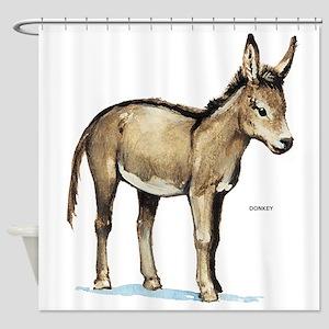 Donkey Animal Shower Curtain
