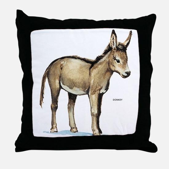 Donkey Animal Throw Pillow