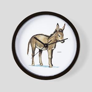 Donkey Animal Wall Clock