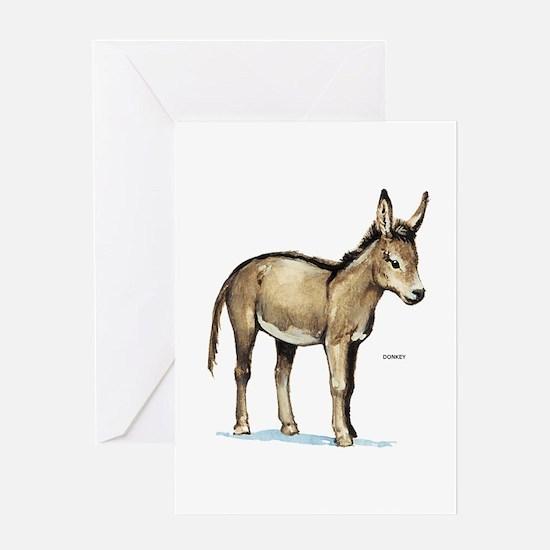 Donkey Animal Greeting Card