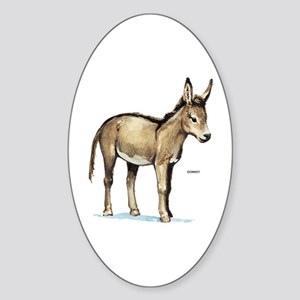 Donkey Animal Sticker (Oval)
