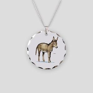 Donkey Animal Necklace Circle Charm
