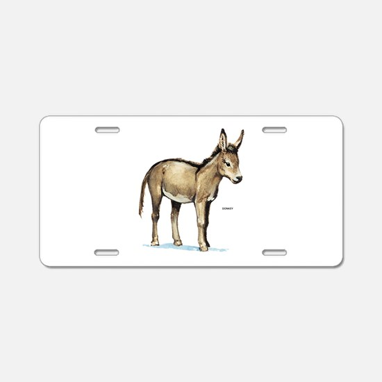 Donkey Animal Aluminum License Plate