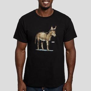 Donkey Animal Men's Fitted T-Shirt (dark)