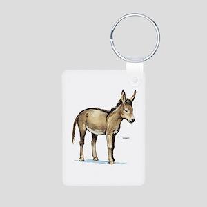 Donkey Animal Aluminum Photo Keychain