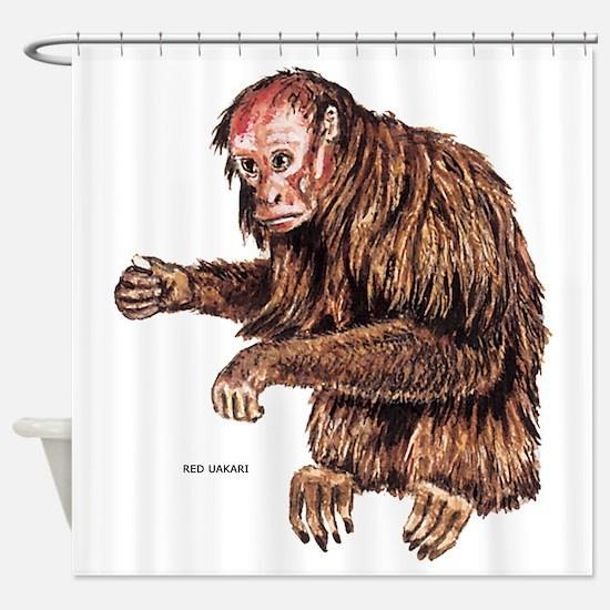 Red Uakari Monkey Shower Curtain
