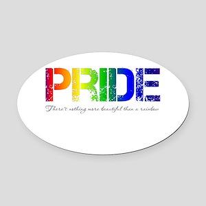 Pride Rainbow Oval Car Magnet