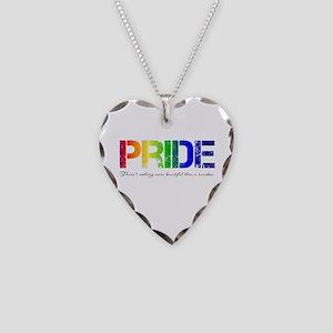 Pride Rainbow Necklace Heart Charm
