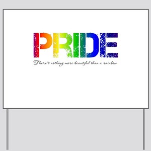 Pride Rainbow Yard Sign