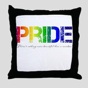 Pride Rainbow Throw Pillow