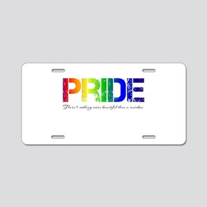 Pride Rainbow Aluminum License Plate