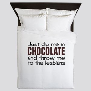 Dip me in Chocolate Queen Duvet