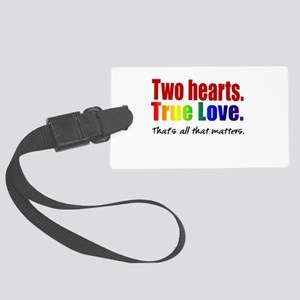 Two Hearts True Love Large Luggage Tag