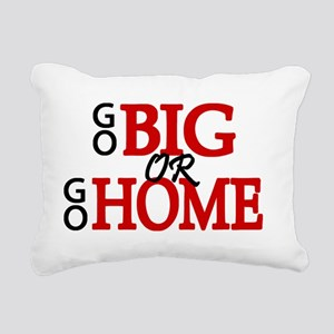 'Go Big' Rectangular Canvas Pillow