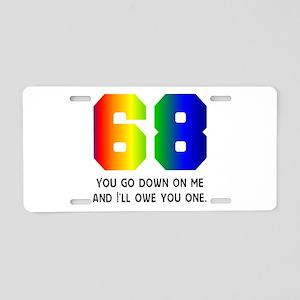 68 Aluminum License Plate