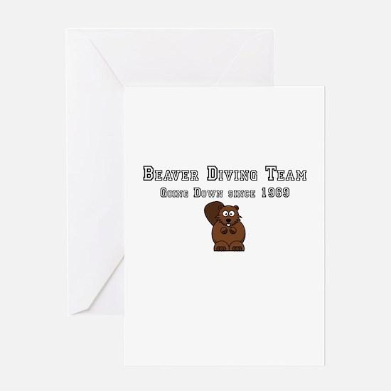 Beaver Diving Team Greeting Card