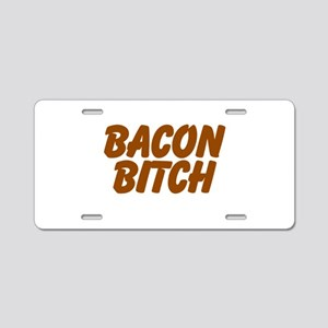 Bacon Bitch Aluminum License Plate
