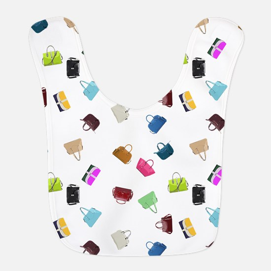 Colorful Handbags Polyester Baby Bib