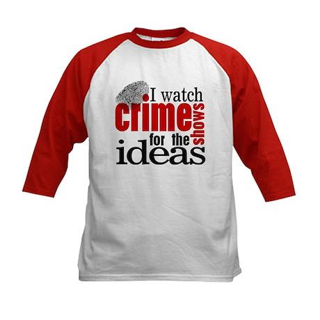 Crime Show Ideas Kids Baseball Jersey